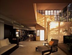 #2: Lovell Health House  Built: 1929  Architect: Richard Neutra  Where: Los Angeles  Status: The home remains in superb condition.  Structure: Steel frame encased in concrete, with plastered interior walls of metal lath.