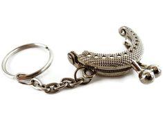 10 eenheden 4 cm mooie portemonnee frame zilver met