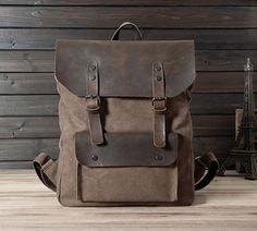 New backpack in Brown / Briefcase / Backpack / by CrazyLeatherBag, $59.00