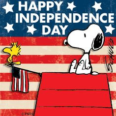 Happy Independence Day, July Peanuts cartoon by Charles Schulz