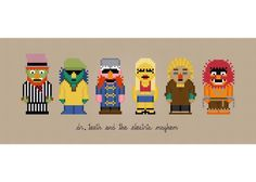 The Muppet Show Dr Teeth - Cross Stitch