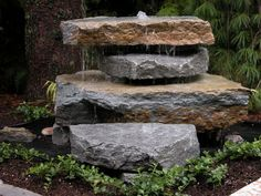 not a fountain, just stacked boulders