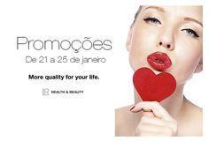 Já sabe das magníficas promoções LR Health&Beauty? De 21 a 25 Janeiro. Tudo na loja online: http://podarroz.wix.com/podarroz#!lronlineshop/clkh