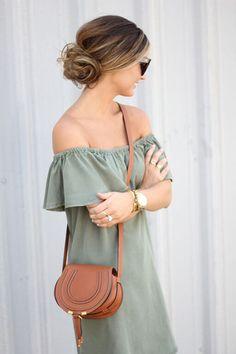 Army Green Ruffles #ForAllThingsLovely | wearing #BrandyPham Needle Bracelet