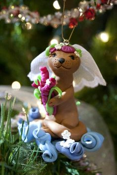 My bride polymer ornament.   Made in 2011.