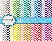 30 chevron digital paper pack, commercial use, scrapbook papers - PGCLPK565