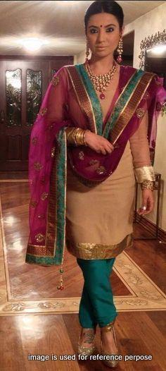 punjabi suits Dress material - black and yellow patiala salwar suit - crape fabric salwar suit with phulkari dupatta, full salwar suit set