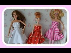 Como fazer roupinhas para bonecas, Barbie sem costura!!!! - YouTube