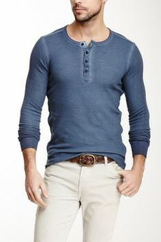 Long Sleeve Thermal Henley Thermal Henley, Gq, Men s Fashion, Long Sleeve,  Style 2b7c7d9ef876