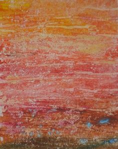 painted bondaweb to imitate rock strata