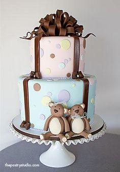 Baby Shower cake...  thepastrystudio.com