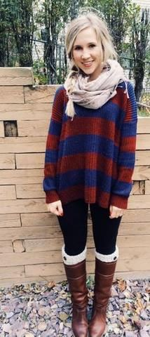 An oversized sweater is an adorable look!
