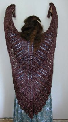 Free Crochet Pattern Batwing Shawl : Stitches, Ravelry and Patterns on Pinterest