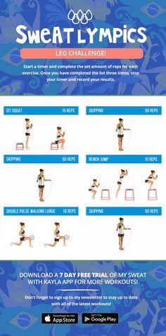 Sweatlympics Leg Challenge!