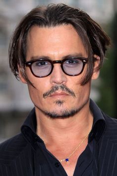 Johnny Depp, male actor, celeb, glasses, intense eyes, face, powerful, steaming hot, sexy, eye candy, portrait, photo
