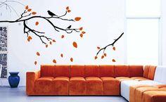 Branches Leaves Birds Wall Art Sticker Branch Leaf Bird Woodland DIY Unique | eBay