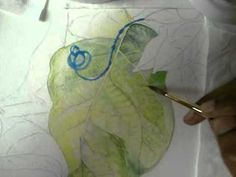 ▶ How to paint around Veins of a Leaf in Watercolor - Part 1 - YouTube - NeelimaPerni.  She has many excellent videos.