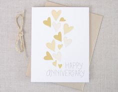 Hearts Happy Anniversary Card // Hand Drawn Type by acbcDesign on Etsy https://www.etsy.com/listing/166190662/hearts-happy-anniversary-card-hand-drawn
