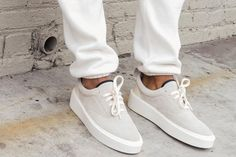 f1c7dc729649 Gray Suede Kicks Are the Antidote to the Big Ugly Sneaker Trend Photos