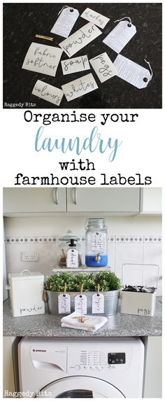 Organise your Laundry with Farmhouse Laundry Labels - Inner Circle Group Board - Have fun being creative and Organise your Laundry with farmhouse labels. This is a set of 7 Labels - Organizing Labels, Home Organization, Organizing Tips, Organising, Rustic Design, Rustic Decor, Decor Crafts, Diy Home Decor, Laundry Labels