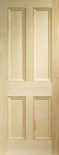 2032 x 813 x Vertical Grain Clear Pine Edwardian 4 Panel - Pre-finished Wooden Flooring - Shawfield Timber - Glasgow, Scotland, UK Victorian Internal Doors, 4 Panel Internal Doors, Panel Doors, Doors And Floors, Pine Floors, Wood Doors, Barn Doors, Clear Pine Doors, Glazed External Doors