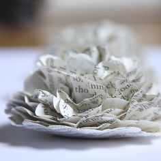 DIY paper flowers.  Love the layers.
