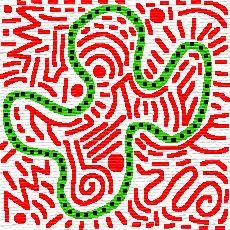 Travail sur contraste des couleurs / ligne fermée - Keith Haring -  adapté en classe de cp