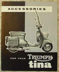 TRIUMPH TINA SCOOTER Accessories Sales Brochure 1962