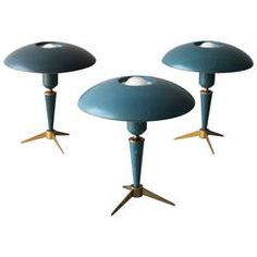 Three Tripod Table Lamps by Louis Kalff for Philips