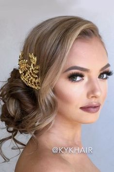 Updo hairstyles for bridesmaids look so festive and sophisticated. They are definitely appropriate for the great atmosphere of a wedding day. And there are so many variants of them – silky, messy, braided, with a bun, etc., so every girl can choose the best one for her.#updohairstyles, #bridesmaidhairupdos, #bridesmaidhairstyles, #updohairstylesforlonghair, #hairstylesforlonghair