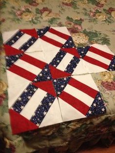 Great block for a Quilt of Valor. by Joyce Illig