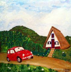 Isabel Monfort. Santana, Madeira - Portugal. Oleo sobre lienzo, 50 X 50 Cm