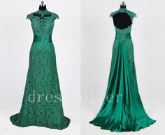 Hey, I found this really awesome Etsy listing at http://www.etsy.com/listing/159123675/new-sweep-train-beaded-green-lace-satin