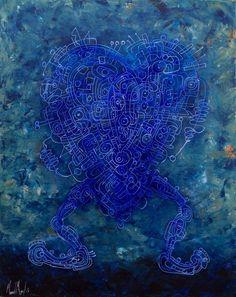 Artist : Manuel Miguel, Title : De la serie La carrera loca del amor. Para mayor información: https://www.facebook.com/pg/MADartmx/photos/?tab=album&album_id=995476873796067