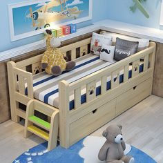 withstorage comforter toddler simple plans house frame easy girl rail and diy bed boy Easy and Simple DIY Toddler BedYou can find Toddler bed and more on our website Diy Toddler Bed, Boy Toddler Bedroom, Toddler Rooms, Baby Boy Rooms, Kids Bedroom, Toddler Boy Room Ideas, Toddler Bed Frame, Kids Beds For Boys, Kid Beds