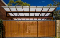 Carport roof and gate Car Parks, Reno Ideas, Backyard Landscaping, Farming, Fence, Gate, Exterior, House Design, Spaces