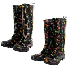 Pets Galore Ultralite Rain Boots Collection - choice of DOGS or CATS print ~ http://www.modandretro.com/pets-galore-ultralite-rain-boots-collection/