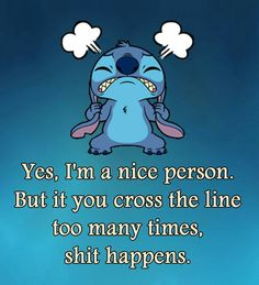 I'm a bit of a push over even my friends will tell you . But I'm learning to say no and be more defiant Funny Minion Memes, Funny Disney Memes, Disney Quotes, Funny Texts, Funny True Quotes, Cute Quotes, Lilo And Stitch Memes, Stich Quotes, Lelo And Stitch