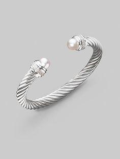 David Yurman  Pearl & Diamond Bracelet