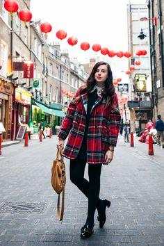 Mademoiselle Robot: What I Wore - Tartan in Chinatown