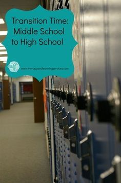 Tips to help with the Middle School to High School transition.