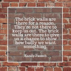 An amazing #quote from the book, The Last Lecture by Randy Pausch.