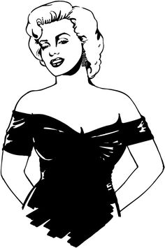 Marilyn Silhouette by on DeviantArt Marilyn Monroe Stencil, Marilyn Monroe And Audrey Hepburn, Marylin Monroe, Silhouette Cake, Silhouette Vector, Pop Art Drawing, Satanic Art, Portrait Sketches, Black And White Drawing