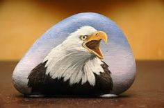 Gorgeous - painted rock