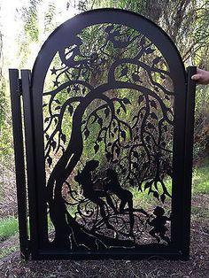 Metal Art Gate Iron Garden Decorative Custom Walk Thru Pedestrian Ornamental