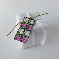 Tags with flower design £2.00