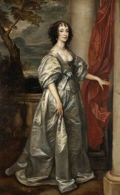 Henrietta Maria of France, Charles I's queen 17th Century Clothing, 17th Century Fashion, Anthony Van Dyck, Sir Anthony, Europe Fashion, Fashion History, Queen Mary Ii, Henrietta Maria, House Of Stuart