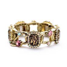 Fashion Alloy Leopard Design Rhinestone Bangle For Women