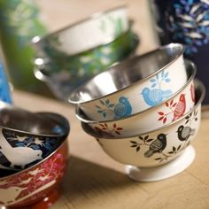 Beautiful hand painted fair trade bowls. LOVE.
