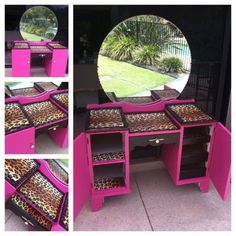 love leopard print...perfect in vanity table!!!!